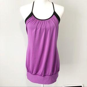 Lululemon Athletica No Limit purple black tank 8